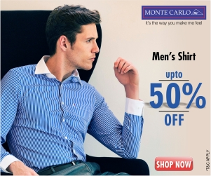 Deals | Monte Carlo Mens Shirts upto 50% off